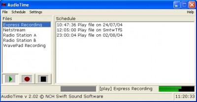 AudioTime Scheduled Sound Recorder 3.00 screenshot
