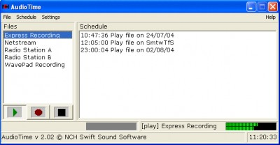 AudioTime Scheduled Sound Recorder 3.00 screenshot
