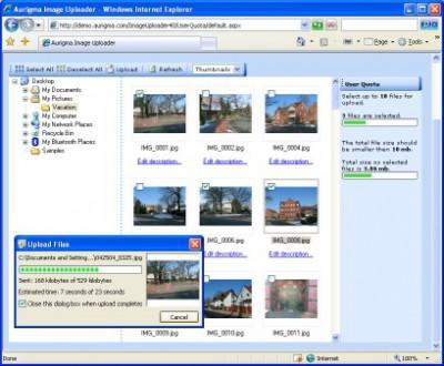 Aurigma Image Uploader 6.5 screenshot