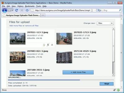 Aurigma PHP File Upload 7.2.9 screenshot
