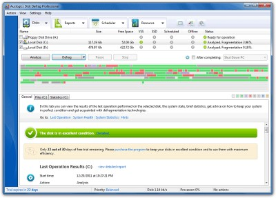 Auslogics Disk Defrag Pro 4.11.0.3 screenshot
