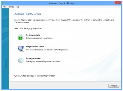 Auslogics Registry Defrag 10.1.4 screenshot