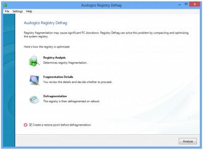 Auslogics Registry Defrag 12.2.0.3 screenshot