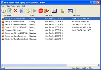 Auto Backup for MySQL Professional 3.2.8 screenshot
