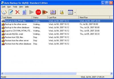 Auto Backup for MySQL Standard Edition 2.2.6 screenshot