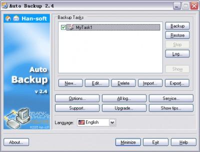 Auto Backup 2.4.3.1013 screenshot