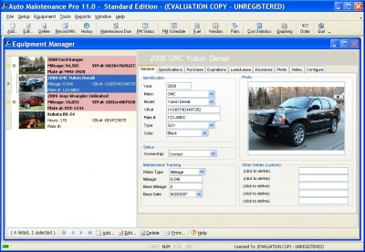 Auto Maintenance Pro 11.0.0.7 screenshot