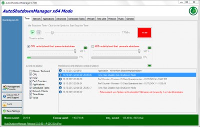 Auto Shutdown Manager 5.0.6.10 screenshot
