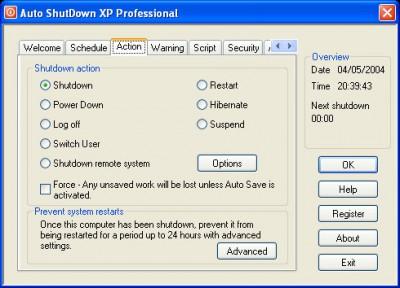 Auto ShutDown XP Professional with Auto Login 2003 screenshot