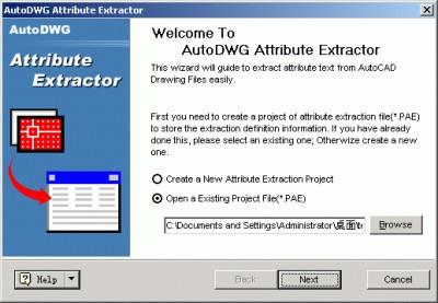 AutoDWG Attribute Extractor 2006 2.653 screenshot