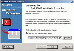 AutoDWG Attribute Extractor 2.8 screenshot