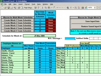 Automatically Schedule Your Employees to 3 Shifts 6.2 screenshot
