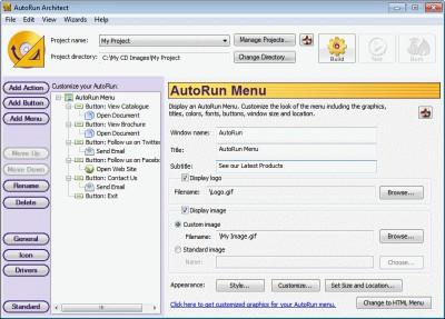 AutoRun Architect 3.01 screenshot