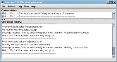 Autosend 3.0 screenshot