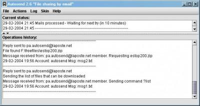 Autosend 3.0 screenshot