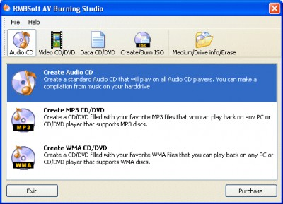 Av Burning Studio 1.1 screenshot