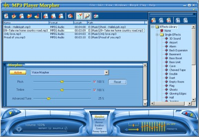 AV MP3 Player Morpher (fr) 3.0.23 screenshot
