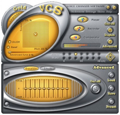AV Voice Changer Software Gold Edition 4.0.63 screenshot