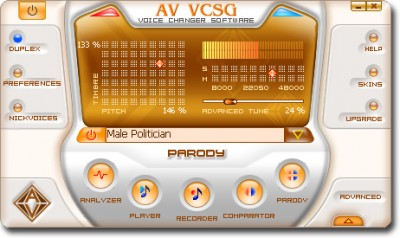 AV Voice Changer Software Gold 7.0.62 screenshot