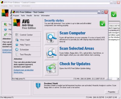 AVG Anti-Virus Free Edition 8.0.100