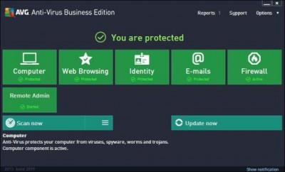 AVG AntiVirus Business Edition 2016 screenshot