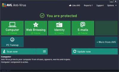 AVG AntiVirus 2016 screenshot
