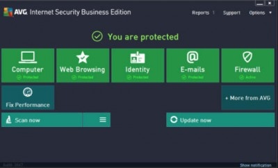 AVG Internet Security Business Edition 2016 screenshot