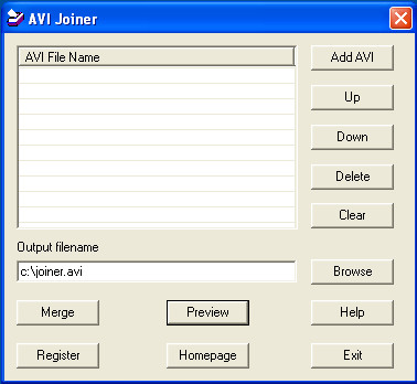 AVI Joiner 1.0.9.0 screenshot