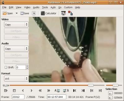 Avidemux 2.3.0 screenshot