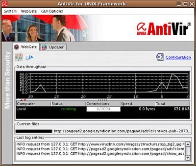 Avira AntiVir UNIX WebGate 1.3.0-12 screenshot