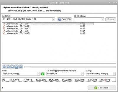 AVS Audio CD to iPod 1.2.1.71 screenshot