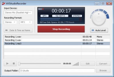 AVS Audio Recorder 4.0.1.21 screenshot