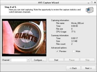 AVS Capture Wizard 1.5.1.62 screenshot