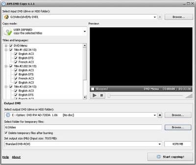 AVS DVD Copy 4.1.2.283 screenshot