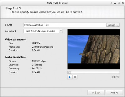 AVS DVD to iPod 1.5.1.82 screenshot