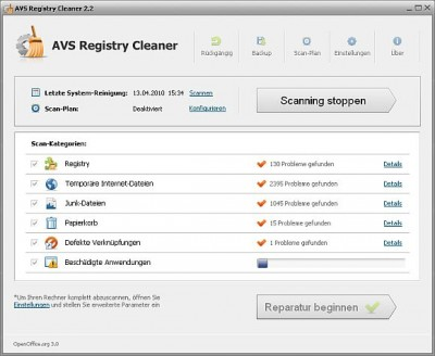 AVS Registry Cleaner 3.0.5.275 screenshot
