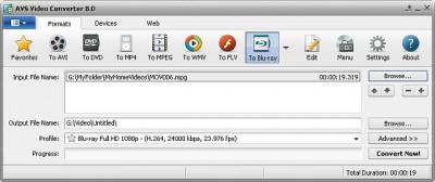 AVS Video Converter 8.0.1.492 screenshot