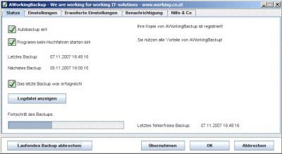 AWorkingBackup 1.0 screenshot
