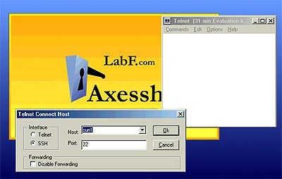 Axessh Windows SSH Client and SSH Server 4.0 screenshot