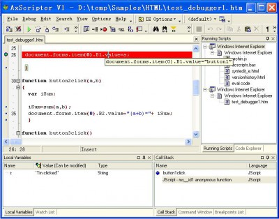 AxScripter 1.1.4 screenshot