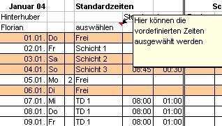 AZEME Arbeitszeiterfassung mit Excel 2.12 screenshot