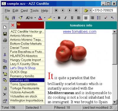 AZZ Cardfile 3.0 screenshot