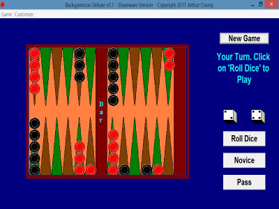 Backgammon Deluxe 3.1 screenshot