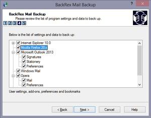BackRex Mail Backup 2.8.178 screenshot