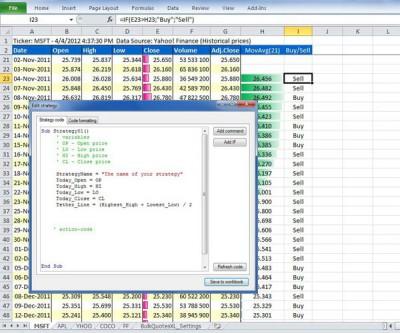 BacktestingXL Pro 7.0.3 screenshot