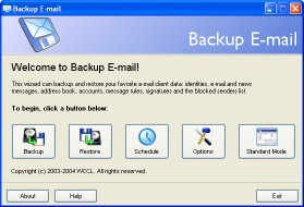 Backup E-mail 1.0 screenshot