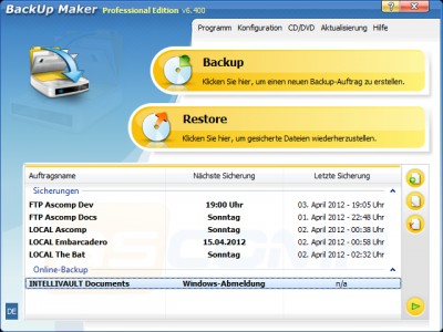 BackUp Maker 7.302 screenshot