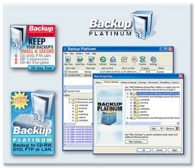 Backup PIatinum 2007 screenshot