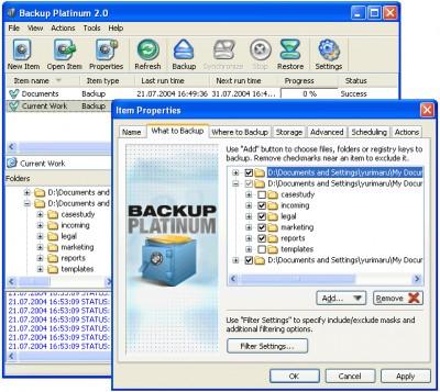 Backup Platinum 21 screenshot