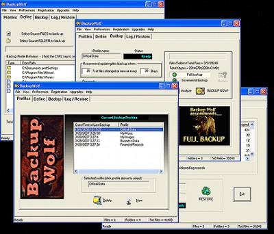 Backup Wolf Backup Software 3.23 screenshot